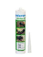 Druckwasserdichte Abdichtung für Rohr- und Mediendurchführungen. KB-Flex 200 ist einkomponentig, dauerhaft plastisch und kann daher direkt aus der Kartusche sogar gegen fließendes Wasser verarbeitet werden.