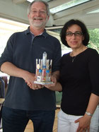 June 20, 2014: Dr. E. Derhovanessian gets the TATI trophy since she leaves the TATI group.