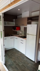Chalet Fabre Plein Air 35 - Camping Gers Arros -  Cuisine LIGHT