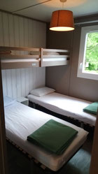 Chalet Fabre Plein Air 35 - Camping Gers Arros -  Chambre Enfant LIGHT