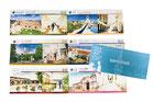 【パンフレット×結婚式場グループ】グループ系列の各結婚式場を頁ごとにご紹介。お持ち込みいただいた画像を使用し各式場の特長をメインにデザインしました。〔H95×W420mm/コート/中綴じ〕