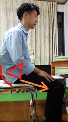 椅子に座ると首痛になる奈良県大和高田市の男性