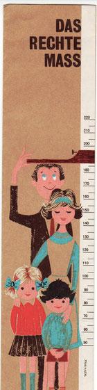 Das rechte Maß ist verloren gegangen. Sparsamer Haushalt - guter Haushalt. Weltspartag 1963. (Sparerziehung) Faltblatt der Sparkasse.