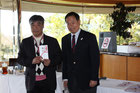 萩原プロ(左)高橋会長(右)