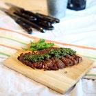 ステーキとパセリ&オレガノソース