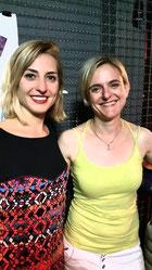 Cäcilia Then mit Autorin Kathrin Schrocke in Berlin