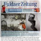 """Abbildung zeigt Radierung""""Herr Sumsemann am Wahrzeichen der Wasserkuppe"""