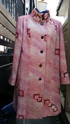 絞りの着物からコート