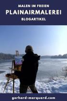 Maler vor Winterlandschaft, Lech
