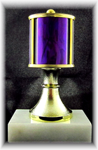 "Single Column Trophy with Riser, 3"" Base"