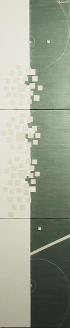HANA 1   273mm*1230mm   P6*3   2021 acrylic on canvas, wood