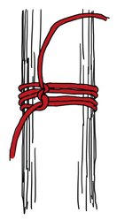 パイプへのロープの縛り方9