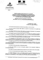 Arrêté d'autorisation, 2005