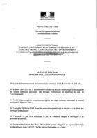 Arrêté de classement, quai de l'écluse, 2009