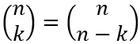 Umschreiben des Binomialkoeffizienten
