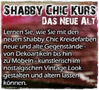 Kurs für Shabby Chic Farben und Techniken