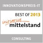 Das Standortanalyse-Tool Contor-Regio wurde 2013 mit dem Best-Of-Preis der Initiative Mittelstand im Bereich Consulting ausgezeichnet.