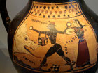 Persée sauvant Andromède du monstre marin, sur un vase corinthien