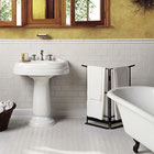 Bathroom with white ceramic tiles on the floor and wall