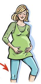 Geniessen Sie Ihre Schwangerschaft... und legen Sie öfter mal die Beine hoch