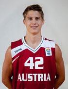 Thomas Klepeisz im Trikot der österreichischen Basketball-Nationalmannschaft