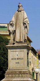Estatua de Vitus Arretinus (Guido d'Arezzo) en su localidad natal.