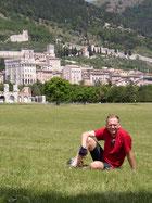 Blick zurück auf Gubbio