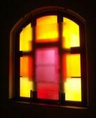 Das charakteristische Fenster des Saales