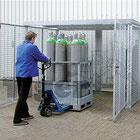 Gasflaschenlagerung - Depot und Container