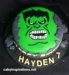 The Hulk birthday cake