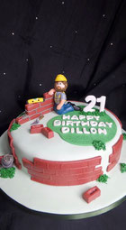 Brick layers Birthday cake