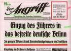 Unter anderem werden viele 'Original'-Zeitungsberichte aus der Zeit 1938 - 1940 gezeigt