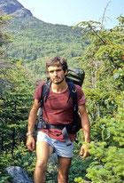 Autor Bernd Wehner während einer seiner Reisen zu den Mohawk-Indianern
