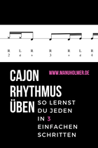 Cajon Rhythmus üben Tipps