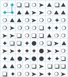Symbole mit bestimmter Anordung