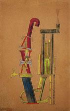 マックス・エルンスト「Little Machine Constructed by Minimax Dadamax in Person」(1919-1920年)