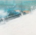 Malerei auf Leinwand, Winterlandschaft in den Alpen