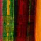 Monika Humm abstrakte Oelmalerei in warmen leuchtenden Herbstfraben