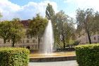 Fontaine in der Gartenstadt und denkmalgeschützten Wohnanlage Cecilengärten. Foto: Helga Karl