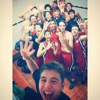 """""""Selfie"""" després de la victòria del Sots 21 a la Salle Horta."""