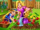 Игра онлайн сад Рапунцель и ее дочки