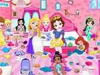 Игра уборка с малышками принцессами Диснея