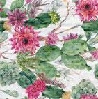 Servilletas para decoupage con preciosos diseños de cactus, muy veraniegos.