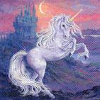 Servilletas para decoupage con unicornios, sirenas, dragones...