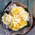 プリザーブドフラワー,花束,黄色,ギフト,結婚式の両親花束贈呈,プロポーズ,退職祝い