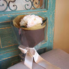 プリザーブドフラワー,花束,白,ギフト,結婚式の両親花束贈呈,プロポーズ,退職祝い