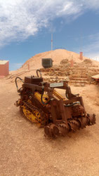 Ancienne machine à creuser des galeries