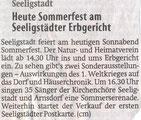 Bild: Teichler Seeligstadt Chronik 2014