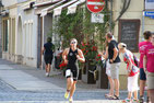 Laufen bei 37°C in der Altstadt von Grimma