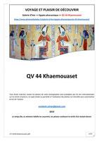 Monographie : QV 44 Khaemouaset